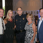 Jim Ellis, Michelle Cheek, Chief of Police Steve Conrad, Joan Conrad and the Executive Director Police Foundation Barry Denton.