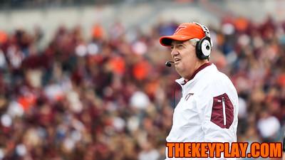 Virginia Tech Head Coach Frank Beamer. (Mark Umansky/TheKeyPlay.com)