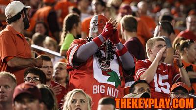 Buckeye fans showed up in numbers in Blacksburg for the game. (Mark Umansky/TheKeyPlay.com)