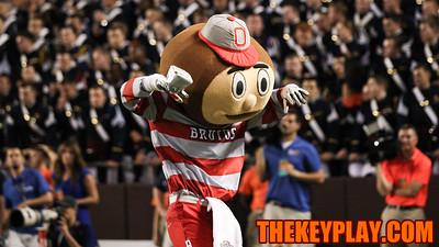 Brutus Buckeye celebrates an Ohio State touchdown in the second half. (Mark Umansky/TheKeyPlay.com)