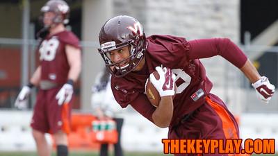 WR David Prince runs through a drill. (Mark Umansky/TheKeyPlay.com)