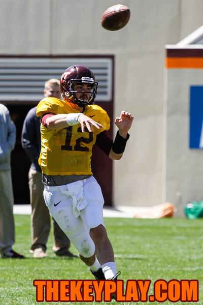 QB Michael Brewer fires off a pass. (Mark Umansky/TheKeyPlay.com)