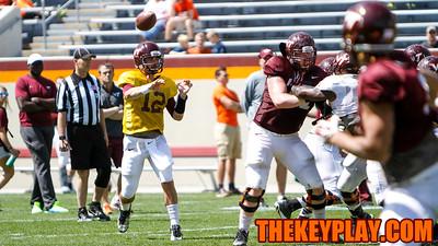 QB Michael Brewer fires off a pass. (Mark Umansky/TheKeyPlay.com