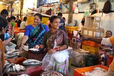 Fish Fight at the Fish Market Mumbai, India