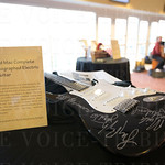 A Fleetwood Mac complete-band autographed guitar was up for auction at the 17th Annual Derby Preview Party at Churchill Downs.