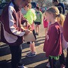 Coach Mike signing Wildcats up for the time trial.