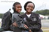Senior Airman Kyara Johnson (from Chattanooga) and her nephew Christopher smile for the camera at the 2015 Wings Over North Georgia Airshow.