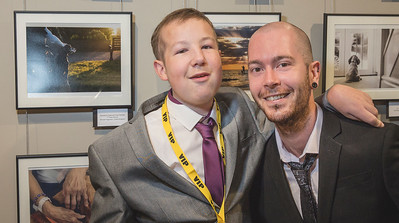 Michael Higginson, Winner of the Assistance Dogs and Dog Charity Category pictured with his little brother Dale who featured in his award winning photograph