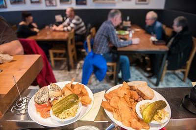 150320 Winnipeg - DAVID LIPNOWSKI / WINNIPEG FREE PRESS  Sherbrook Street Delicatessen Proprietor Jon Hochman at his restaurant Friday March 20, 2015.
