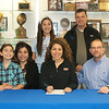 FHS Volleyball player J. Casey signed a letter of intent for Houston Baptist University to play volleyball. She will be pre-med in her studies. At FHS she played outside hitter on the volleyball team. Her parents are Greg and Alicia Casey. In the photo, she is joined by Coach Jerry Lynch and sisters.