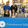 FHS senior L. Davis recently signed a letter of intent to play softball for The University of Alabama in Huntsville. Her major is mechanical engineering. While at FHS she has played both infield and outfield for softball. She is a record holder for both hits and singles for the school and has been named All State, All District and All County player. She is the daughter of Scott and Gabrielle Davis. She and her parents were joined in the photo by FHS Coach Kevin Parr, NASA Flight Officer (and her former coach) Ken Hamm and FHS Coach Kassie Pustejovsky.