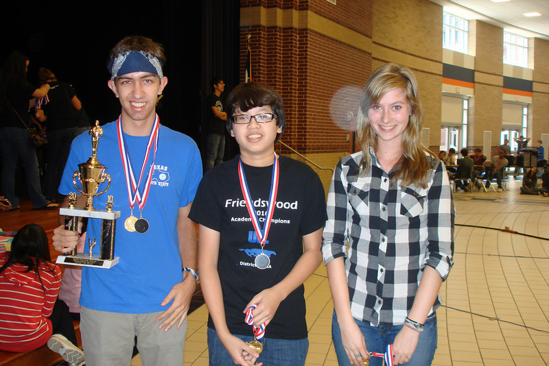 The FIRST place team in the Novice team Programming competition
