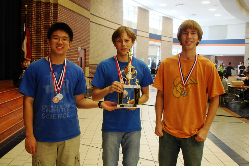 The second place team in the Advanced team programming competition
