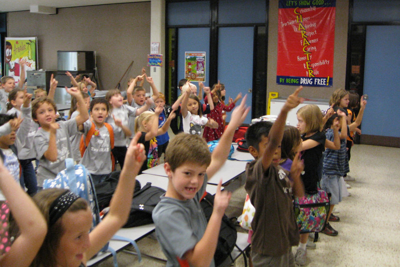 Second Graders Celebrate By Dancing The Six Pillar Shuffle!