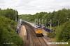150809-004     GB Railfreight class 66/7 no 66731 interhubGB passes through Langwith-Whaley Thorns on the Robin Hood Line, powering train 6V80, 16.00 West Burton power station to Portbury coal terminal.