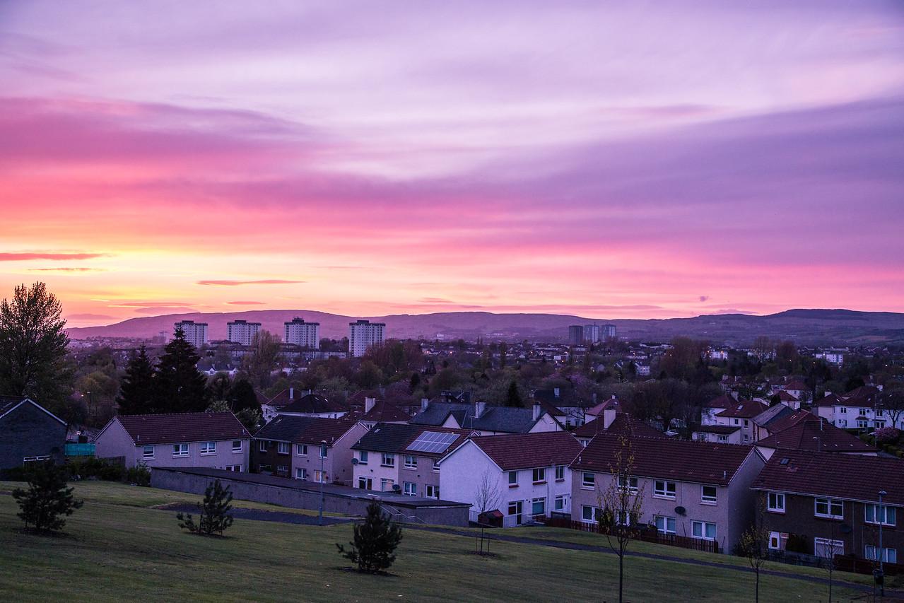 Glasgow Sunset