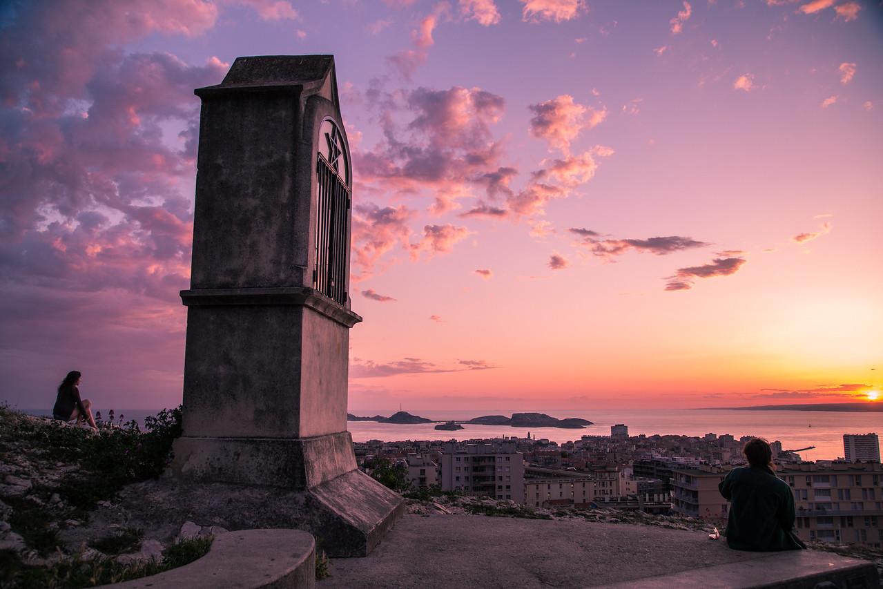 Sunset overlooking Marseilles
