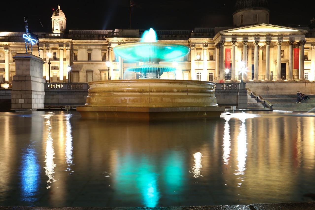 Trafalgar Reflections at Night