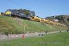 078 passes Killiney working a 1035 Heuston Guinness Yard - Wexford Autoballaster train. Mon  20.04.15  <br /> <br /> Photo courtesy of Mr. Church.
