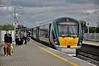 Passengers alight from 22032 at Portarlington. 1505 Galway - Heuston. Fri 24.04.15