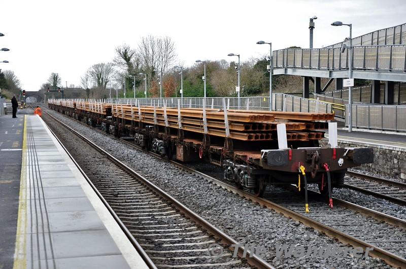 The steel train at Kildare. Sat 24.01.15