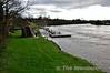 Railway footbridge at Killaloe beside the River Shannon. Sun 04.01.15