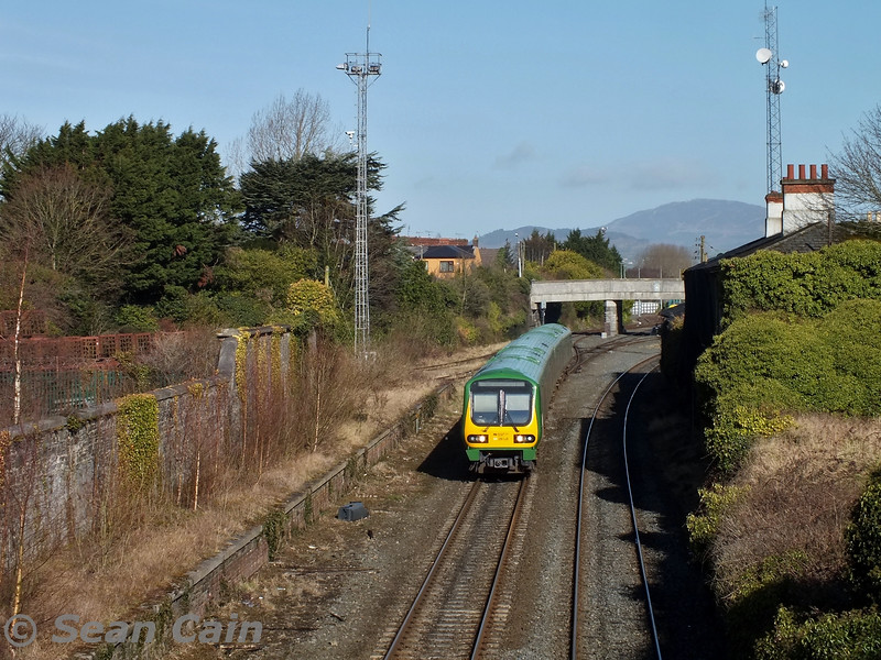 29028 departs Dundalk with the 1130 Dundalk - Pearse. Wed 04.03.15 <br> <br> Photo courtesy of Sean Cain.