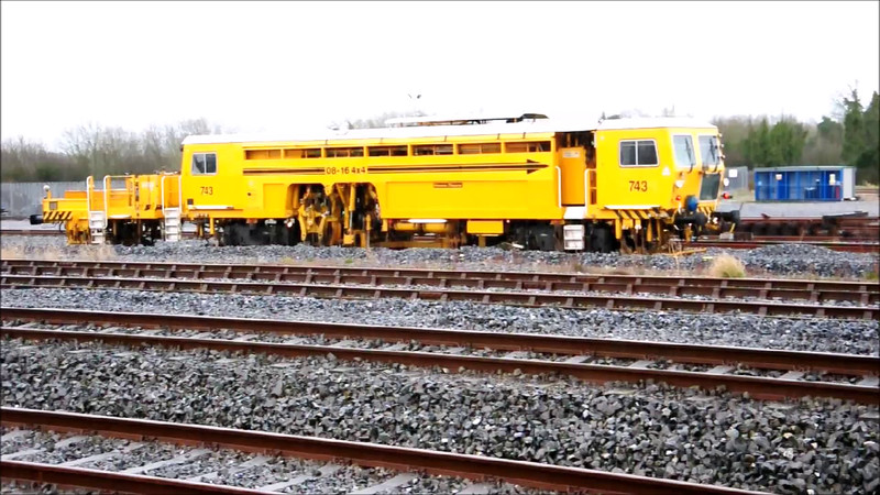VIDEO: Tamper 743 at Limerick Jct. tamping one of the sidings. Presumably undergoing trials. Fri 13.03.15