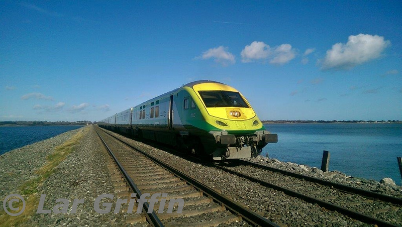 MKIV 4006 stands at a red signal FL353 on the Malahide Estuary with the 1115 Dundalk - Connolly Trial.  Wed 04.03.15<br /> <br /> Photo taken by Staff Member on board.