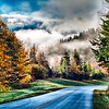 autumn drive on blue ridge parkway