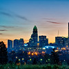 charlotte north carolina early  morning sunrise