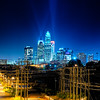 charlotte north carolina skyline at night