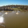 aerial over a lake in rock hill south carolina