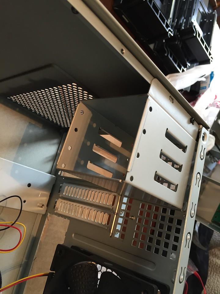 "4x 2.5"" internal drive cage"