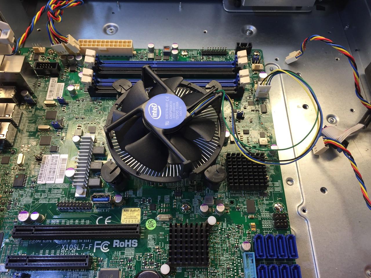 CPU cooler installed