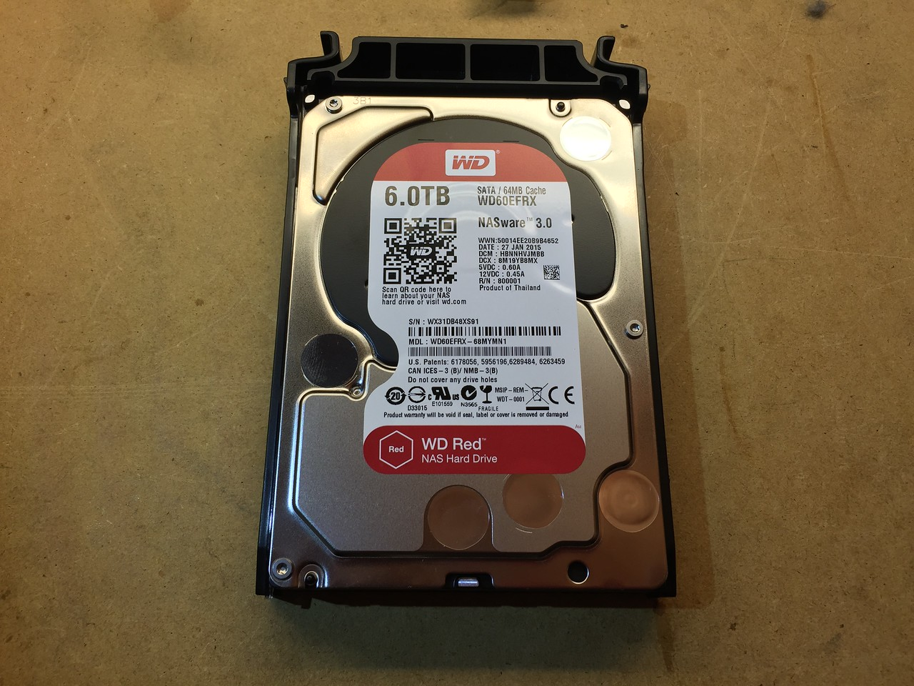 Upgrading the first of the 3TB drives to 6TB