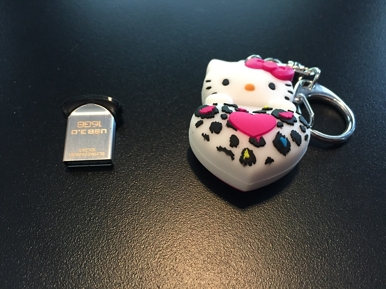 The OS will live on my beloved Hello Kitty flash drive