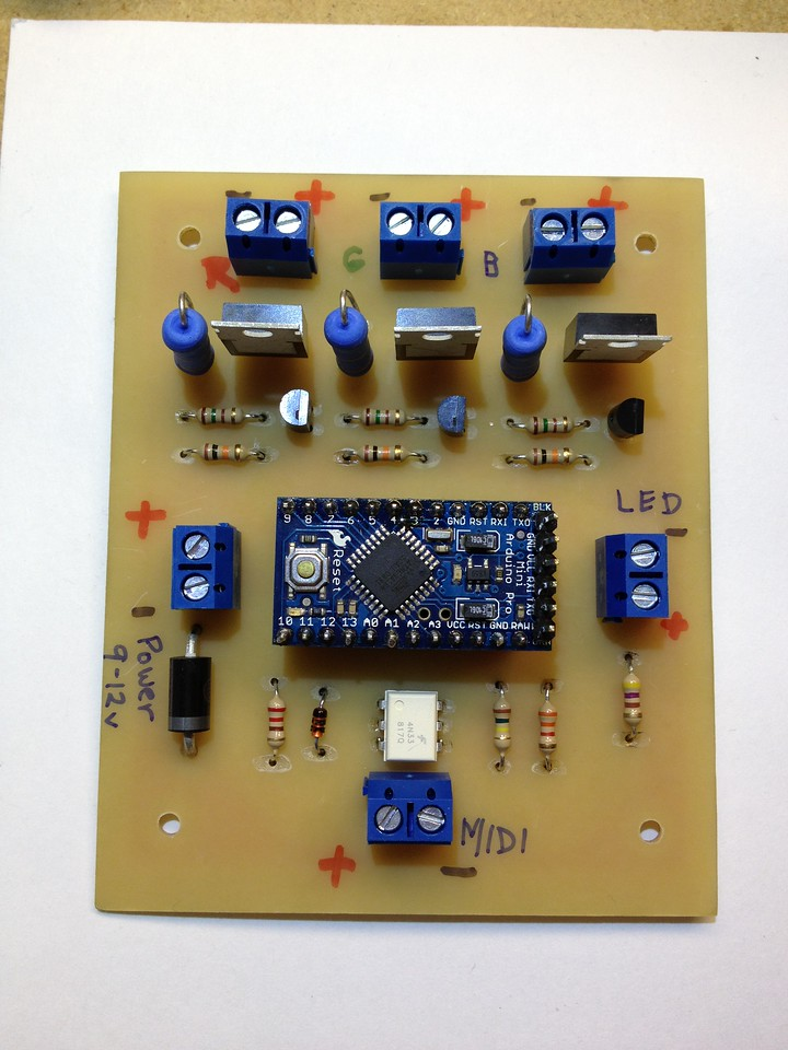 Second PCB all soldered up