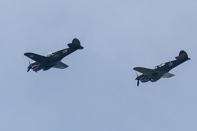 The Warhawk formation turning west toward the Mall.