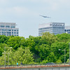 The Superfortress following the Potomac River north of Rosslyn.