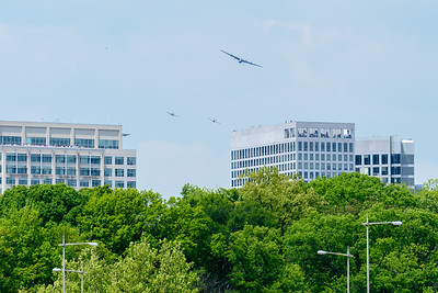 The Liberator formation following the Potomac River north of Rosslyn.