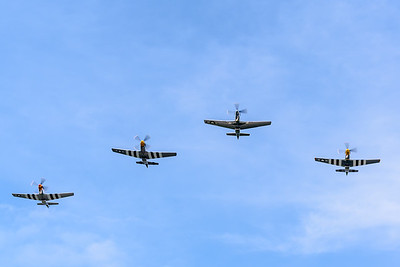 The Mustang formation flew directly over us.