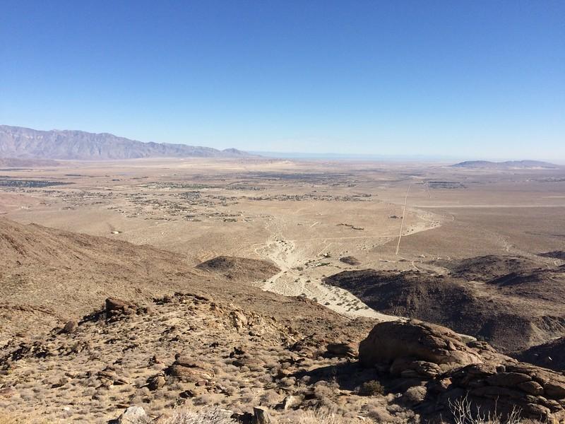 Overlooking Borrego from Montezuma