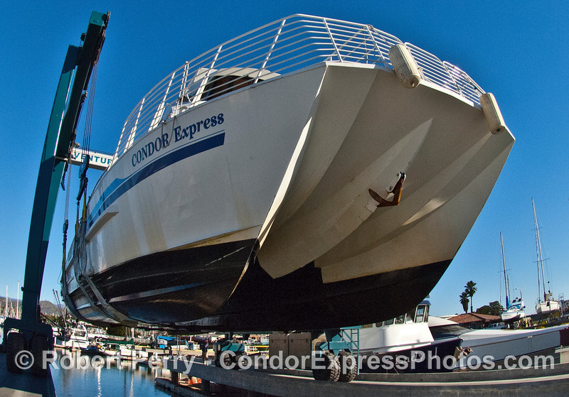 Close up of starboard bow.