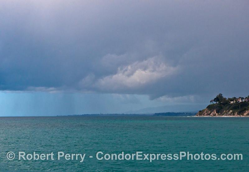 Rain along the Santa Barbara and Goleta coast.