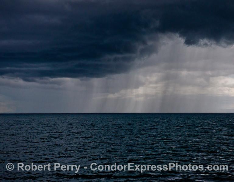 Rain - open ocean.