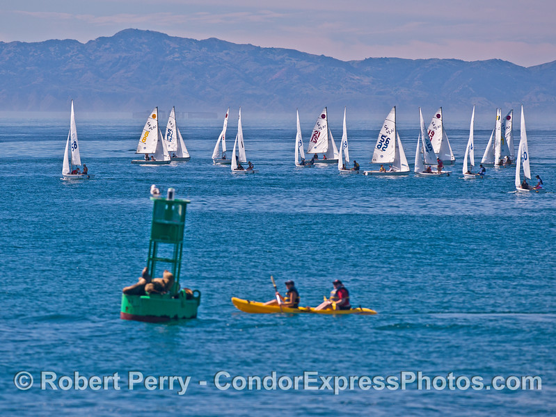 Santa Barbara Harbor fun zone.