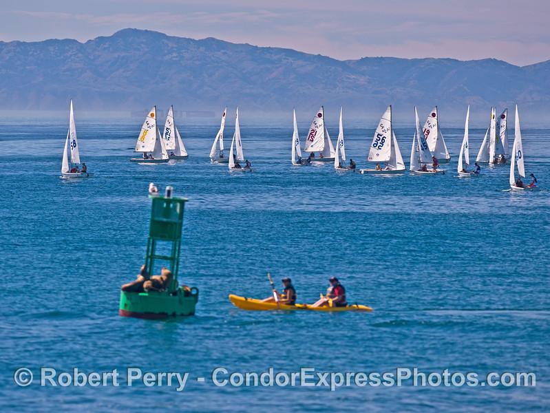 Santa Barbara Harbor fun zone.