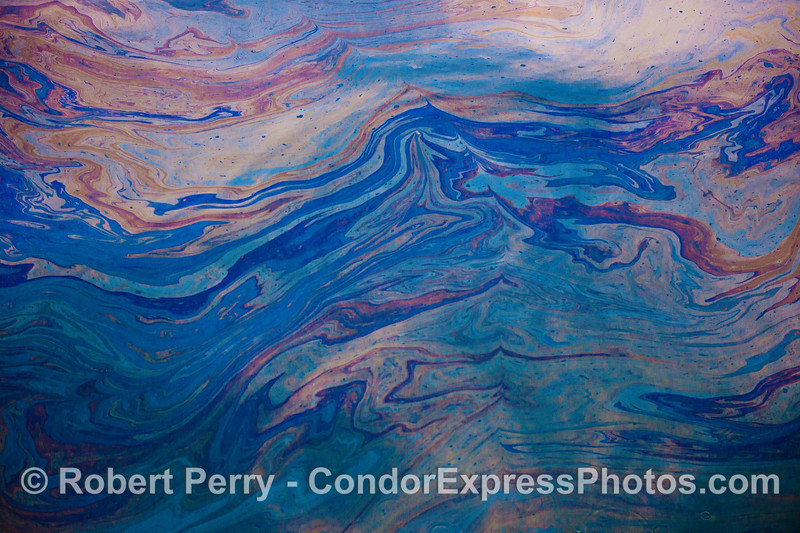 Abstract ocean surface - waves of color.
