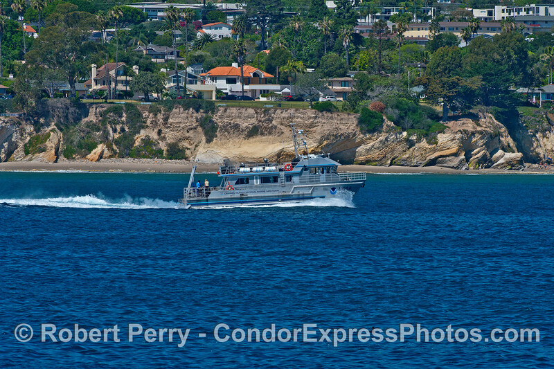 The NOAA Channel Islands National Marine Sanctuary Research Vessel Shearwater.